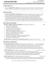 Examples Of Administrative Assistant Resumes Resume Objective For Medical Assistant Position Resumes Billing