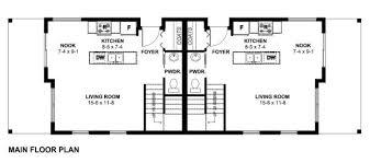 duplex floor plans for narrow lots small narrow lot duplex house plan hunters