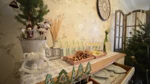 decorated table with breadsticks cheese wine
