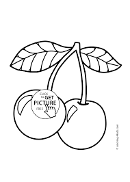 fruits coloring pages for kids printable free