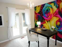 rainbow roses wall mural blue lake decor piano keys peel and stick reusable removable wallpaper mural