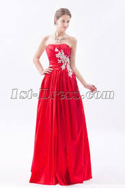 simple red long taffeta cheap quinceanera gown 1st dress com