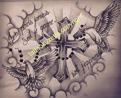 dove cross tattoo design by tattoosuzette on deviantart