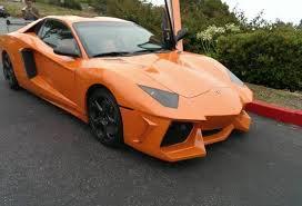 lamborghini aventador automatic transmission overkill orange lamborghini aventador replica spotted in the u s
