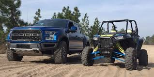 ford raptor truck pictures desert duel can the ford raptor beat a polaris rzr side by side
