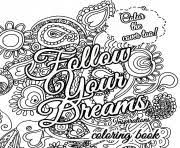 print quote about dream for adults coloring pages coloring