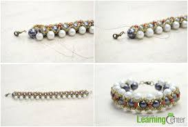pearls bracelet diy images How to make a woven pearl bracelet with seed beads full tutorial jpg