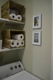 rattan tissue box storage in the basement small laundry room ideas