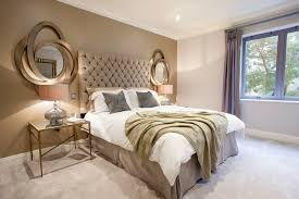 metal wall mirror for charming bedroom decoration with fancy
