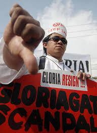 Seeking Quezon City Block Opposition March Demanding Philippine Leader S
