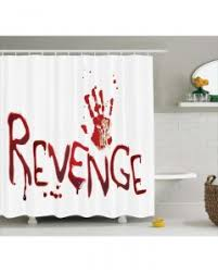 Blood Shower Curtain Bloody Throw Pillow Case Handprint With Blood Print Cushion Cover