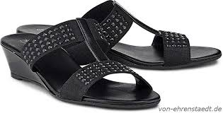 designer sandaletten charmant damen drievholt keil pantolette schwarz keil sandaletten