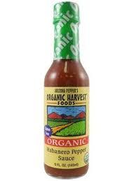 organic harvest habanero pepper sauce