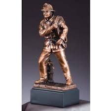 firefighter figurines firefighter award bronze firefighter statue personalize at