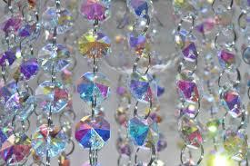 14mm octagon aurora borealis ab chandelier drops glass crystals