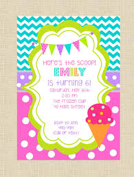 personalized ice cream or frozen yogurt birthday party digital