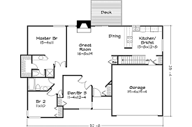 600 Square Foot House Plans Ranch Style House Plan 2 Beds 2 00 Baths 1400 Sq Ft Plan 320 328
