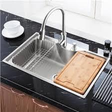 distributeur cuisine moderne évier à encastrer en acier inoxydable 304 1 bac design
