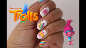dreamworks trolls inspired nail design temporary tattoos youtube
