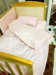 promotion 3pcs baby bedding set for crib newborn baby bed linens
