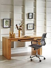elegant decoration of small office designs with study table also