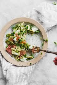 prosciutto pea and pesto pasta salad broma bakery