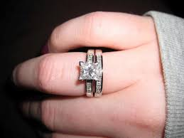 solitaire engagement ring with wedding band wedding rings princess cut solitaire engagement rings with