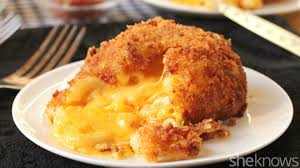 the bacon crusted mac and cheese lava cake you have to see to believe