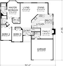 3 Bedroom Ranch Floor Plans Ranch House Plans No Garage Three Bedrooms Homes Zone