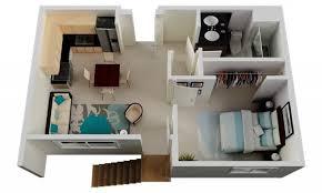 appartement avec une chambre 50 plans en 3d d appartement avec 1 chambres dining area