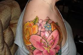 Big Flower Tattoos On - floral images designs