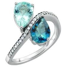 mothers rings with 2 stones bypass ring