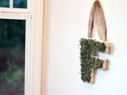 moss covered letter decor southern couture
