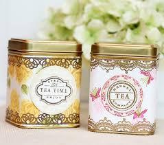 Design Inspired Vintage Tea Tins Damask Love