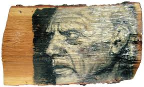 wood painting pablo picasso portrait painting on the wood painting by