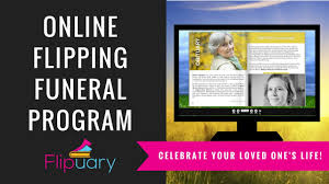 funeral programs online introducing flipuary online funeral program with obituary