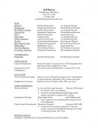 Movie Theater Resume Example by Film Student Resume Template Examples