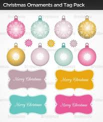 ornaments tree tag vector pack free