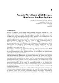 acoustic wave based mems devices development and applications