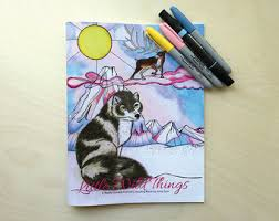animal drawing etsy