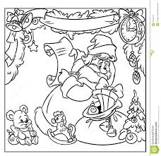 christmas santa gifts coloring page stock illustration image