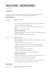 Simple Resume Sample by Desktop Support Resume Samples Visualcv Resume Samples Database