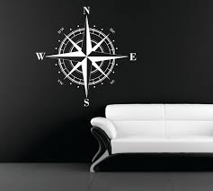 large compass rose nautical vinyl wall decal ceiling zoom