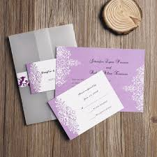 lavender wedding invitations custom vintage purple damask pocket wedding invitations ewpi066 as