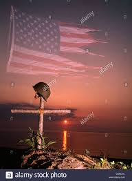 American Flag Sunset 1970s Montage Tattered American Flag Sunset Soldiers Military