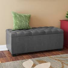 Padded Storage Bench Virgil Upholstered Storage Bench Reviews Joss