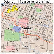 salem oregon map 4164900