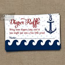 raffle baby shower printable raffle baby shower nautical