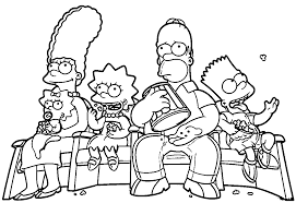 the simpsons coloring pages wecoloringpage