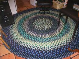 an old fashioned braided rug